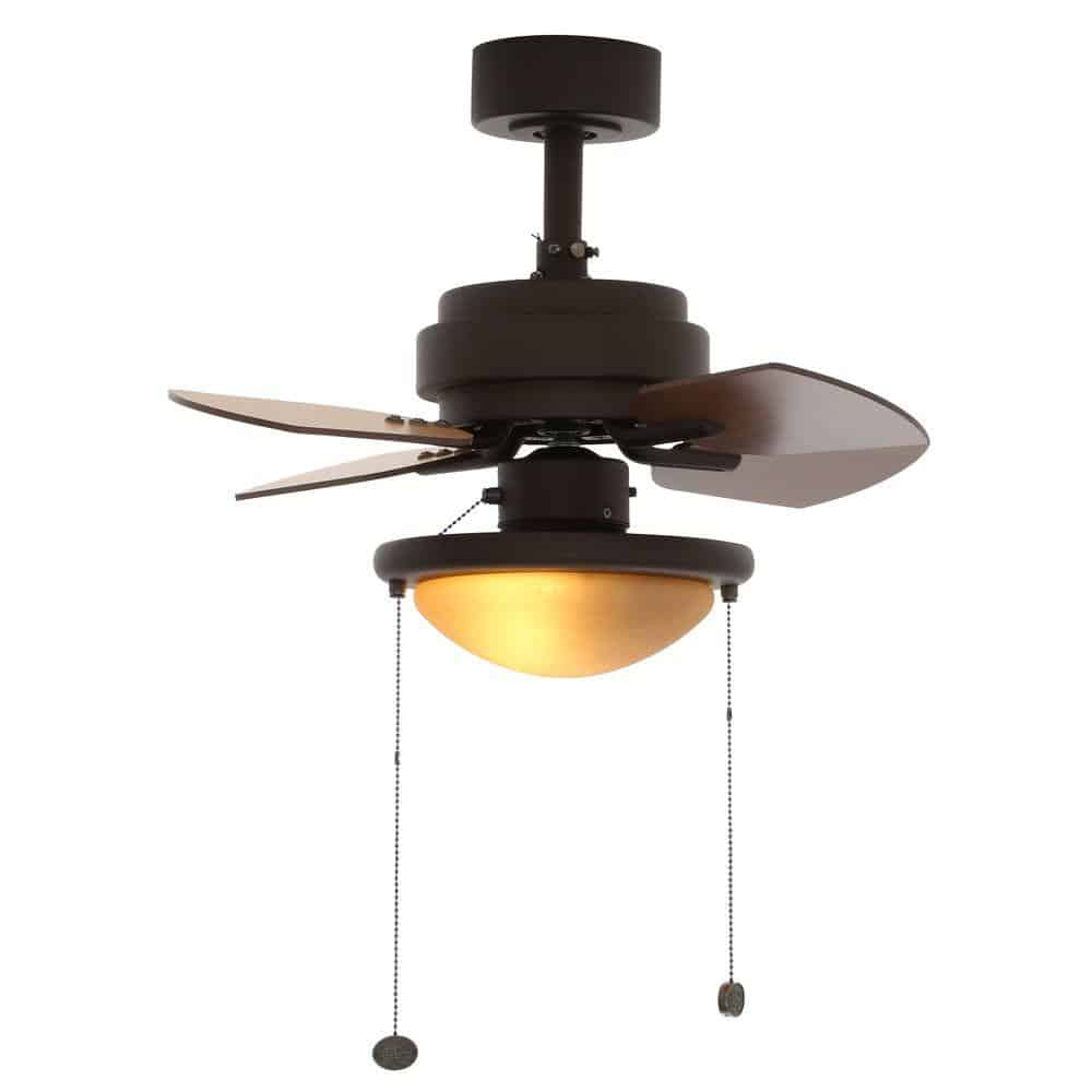 Metarie 24 in. Indoor Oil-Rubbed Bronze Ceiling Fan with Light Kit from Home Depot