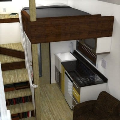 Staircase with Bookshelves