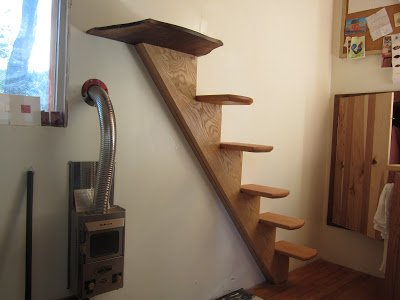Skinny Stairs Oakland Tiny House
