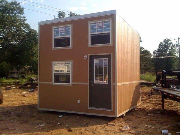 Cube on skids foundation