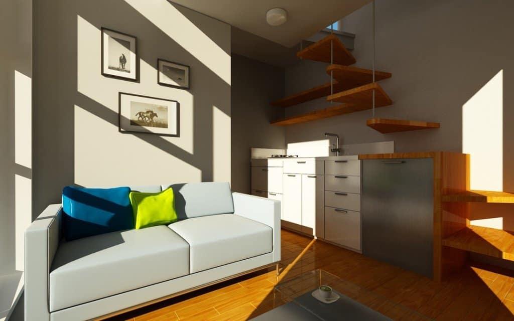 tiny home on foundation - nomad interior
