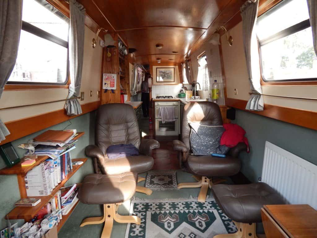 Narrowboat inside