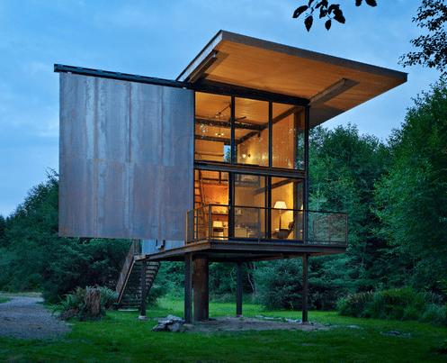 permanent tiny house on stilts