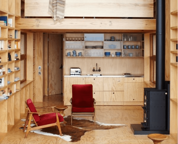 moveable beach house on skids interior