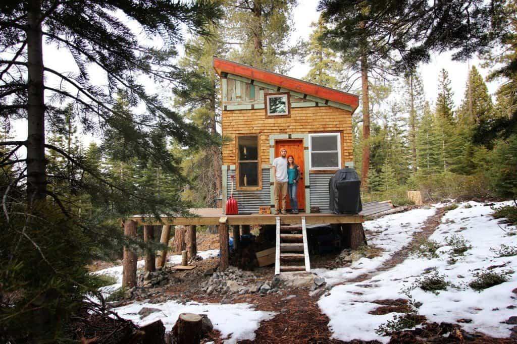 permanent tiny house foundation on tree stumps