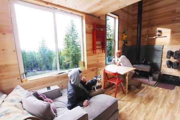 permanent tiny house foundation on tree stumps interior
