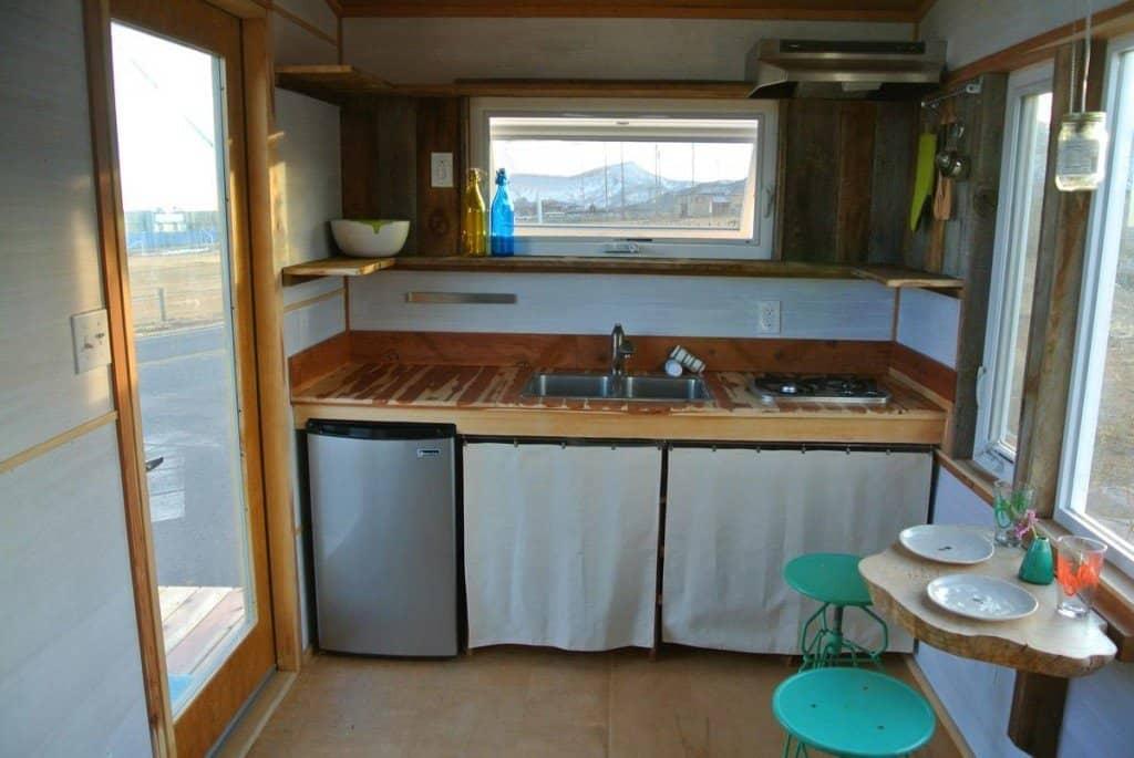 Tiny House Kitchen Curtain Cupboard