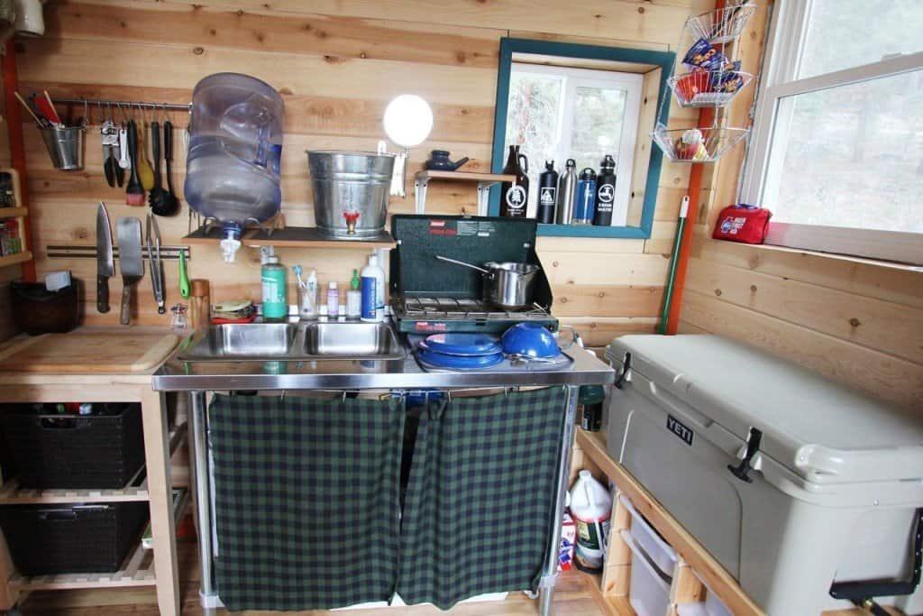 Tiny House Kitchen Curtains