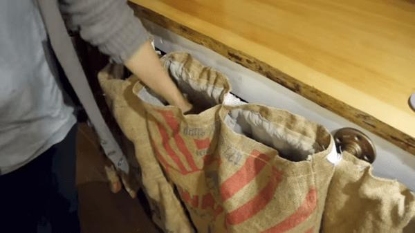 Tiny House Kitchen Pockets