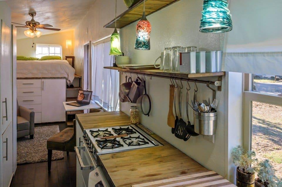 Tiny House Kitchen Rail