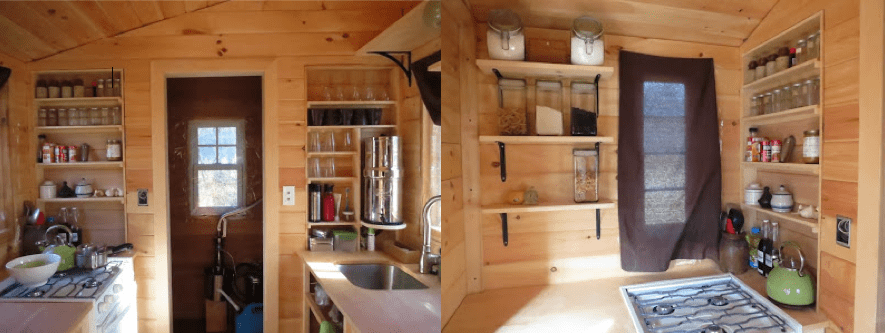 Tiny House Kitchen Shelving