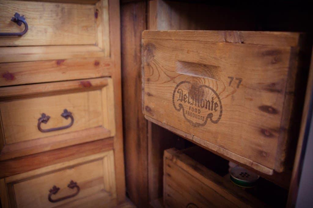 Tiny house kitchen crates