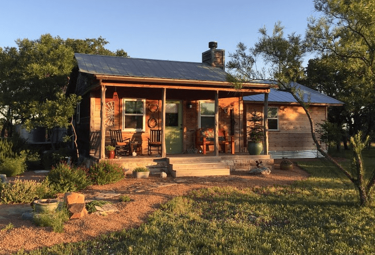 picture of shed turned into tiny home
