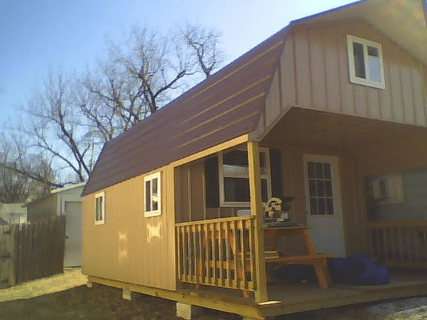 Tiny house shed conversion in progress