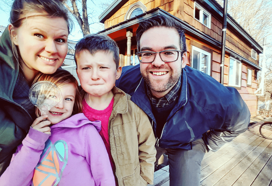 Tiny house family of four
