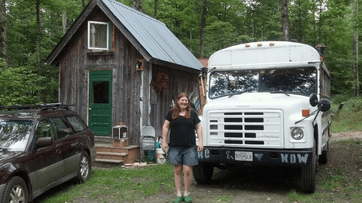Rustic tiny house shed conversion