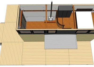 SIPs tiny house loft