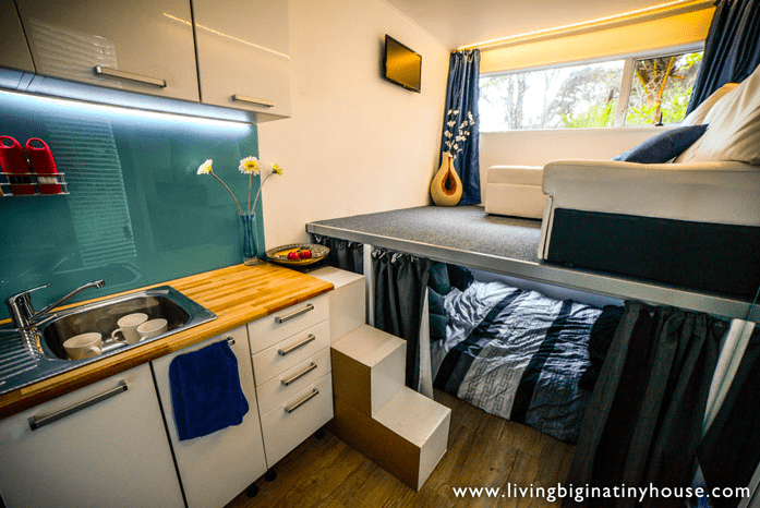 house made from storage container interior