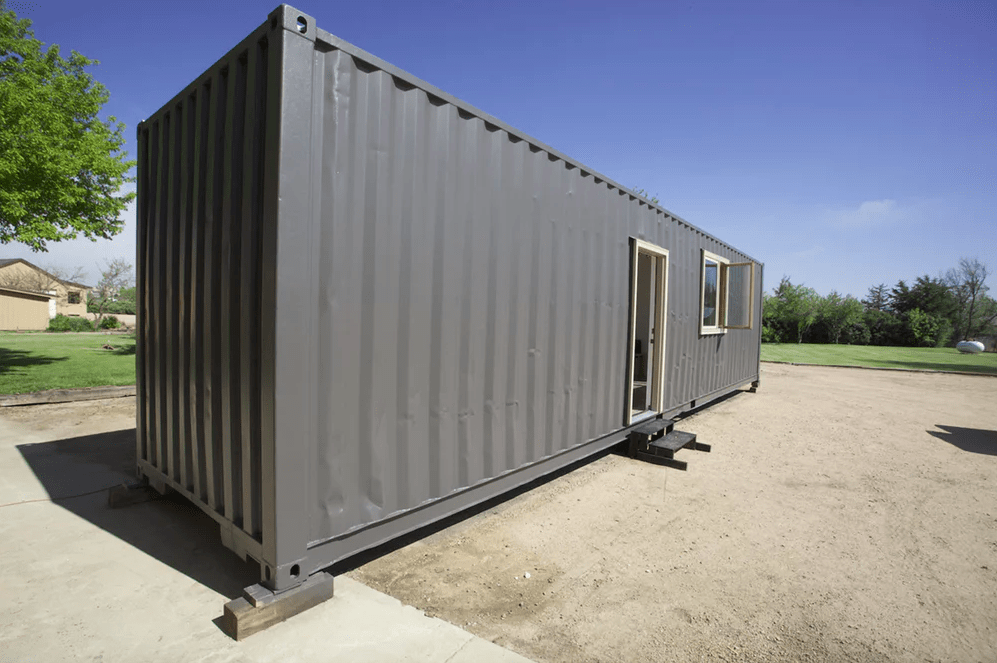 simple shipping container tiny house