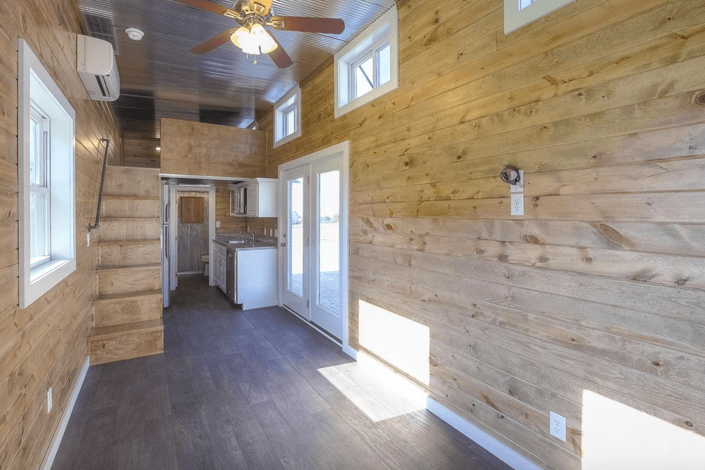 shipping container house interior