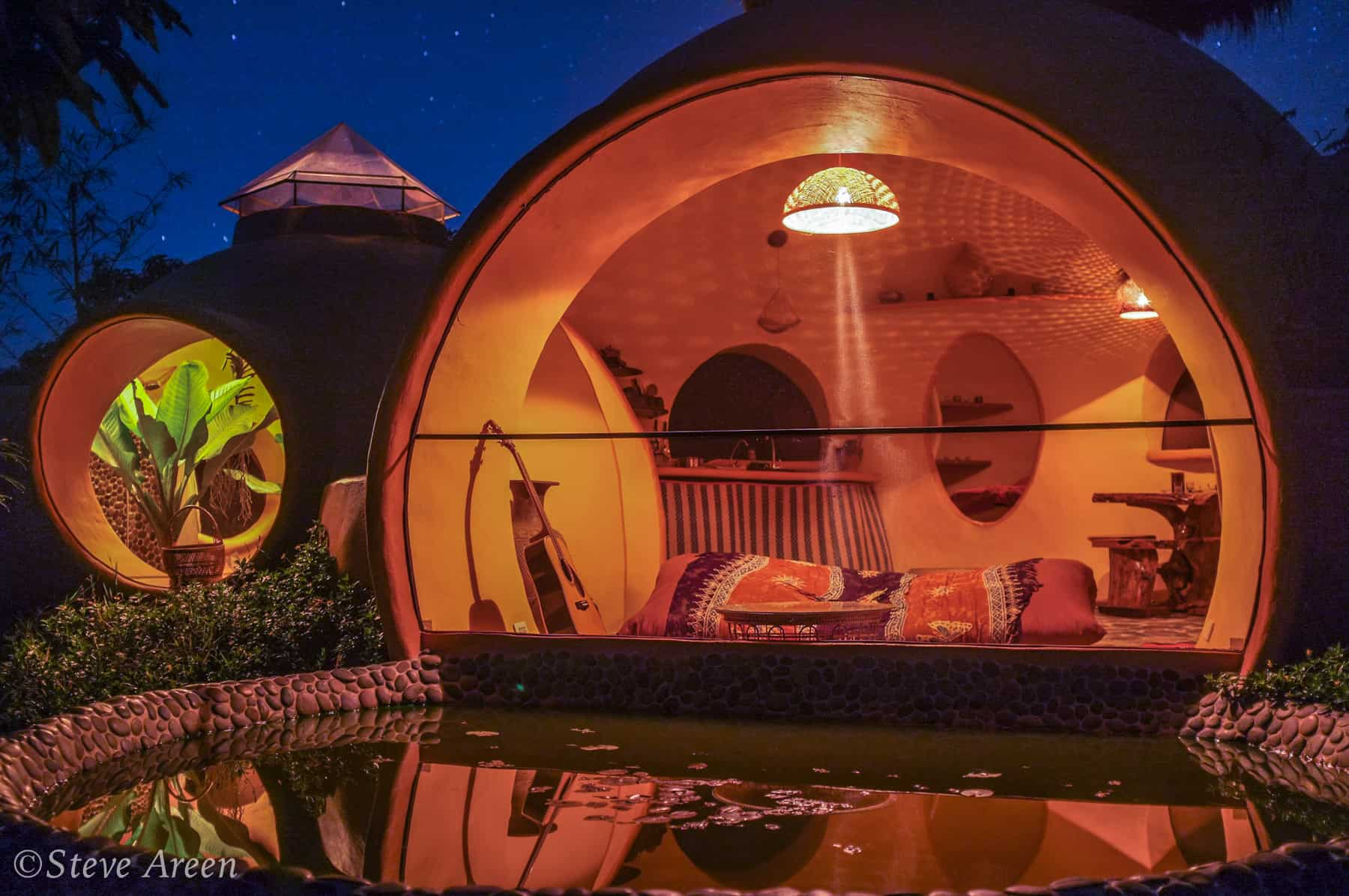 AirCrete dome at night