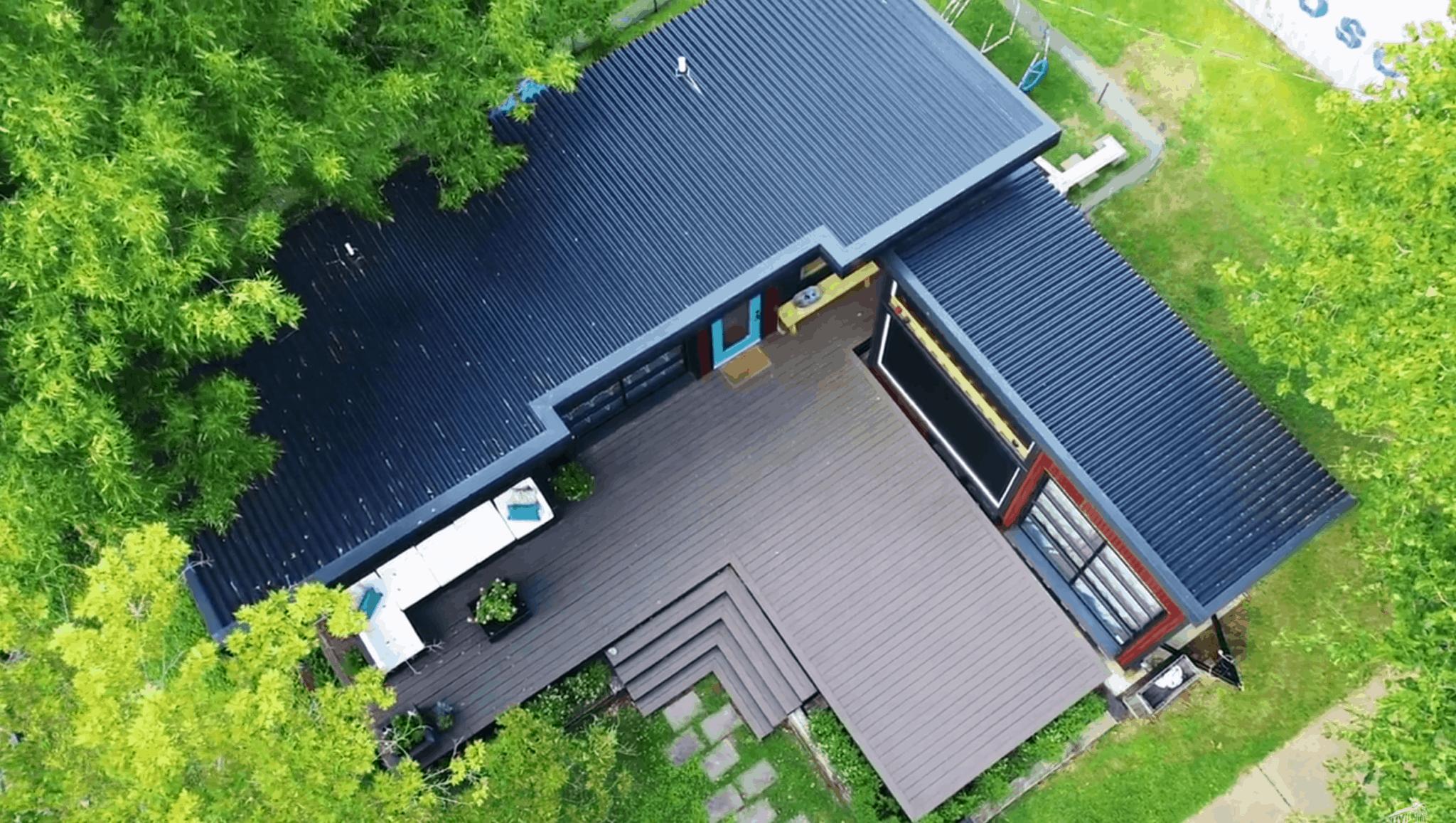 asha mevlana tiny house from above