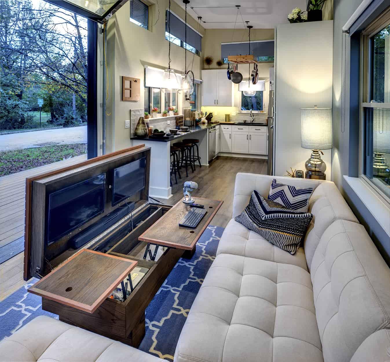 asha mevlana tiny house couch