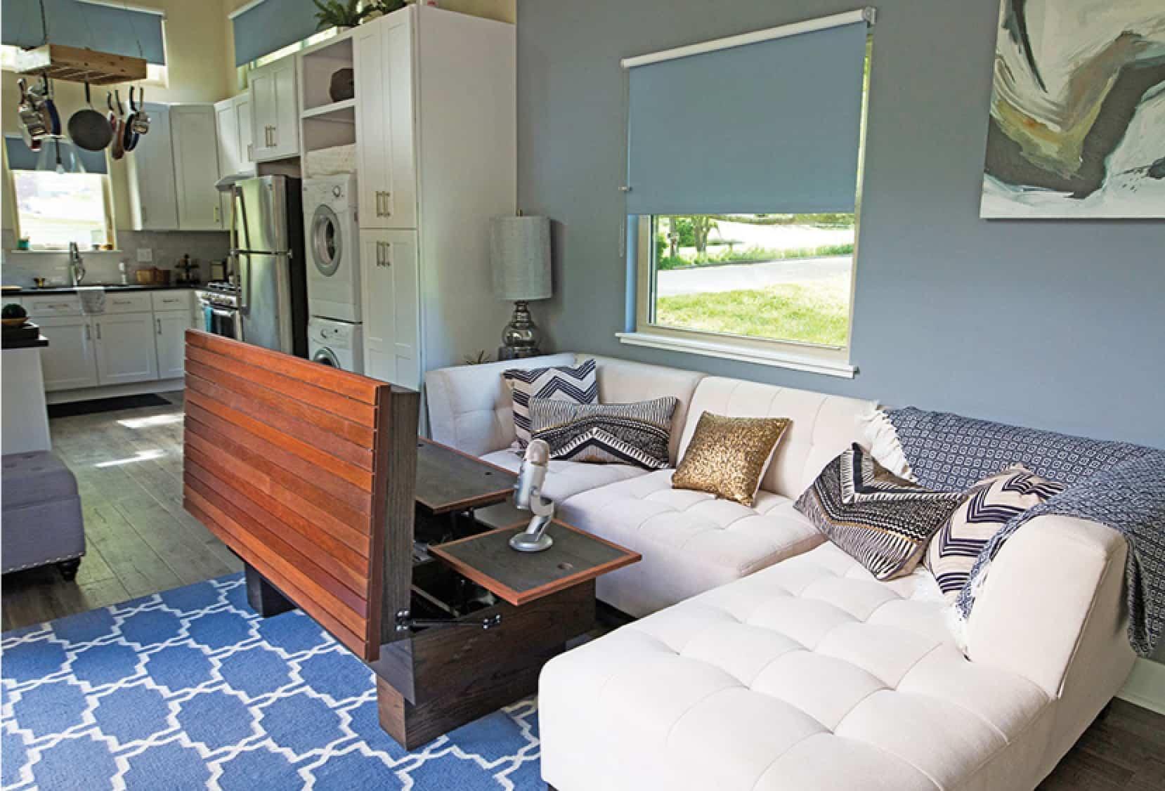 asha mevlana tiny house living room storage