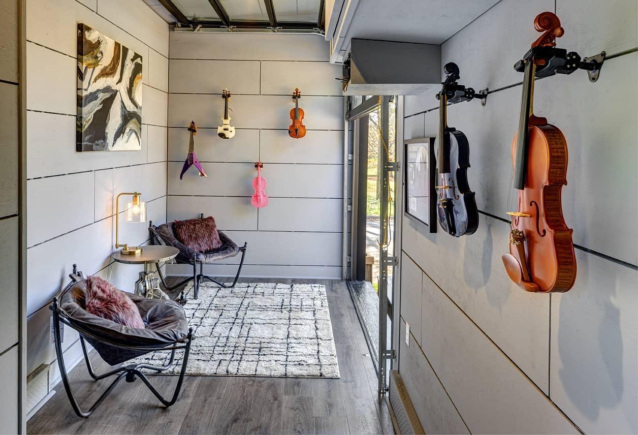 asha mevlana tiny house with violins