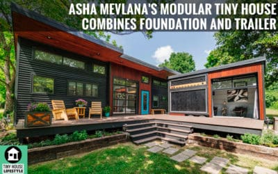 Musician's Modular Tiny House Combines Foundation and Trailer