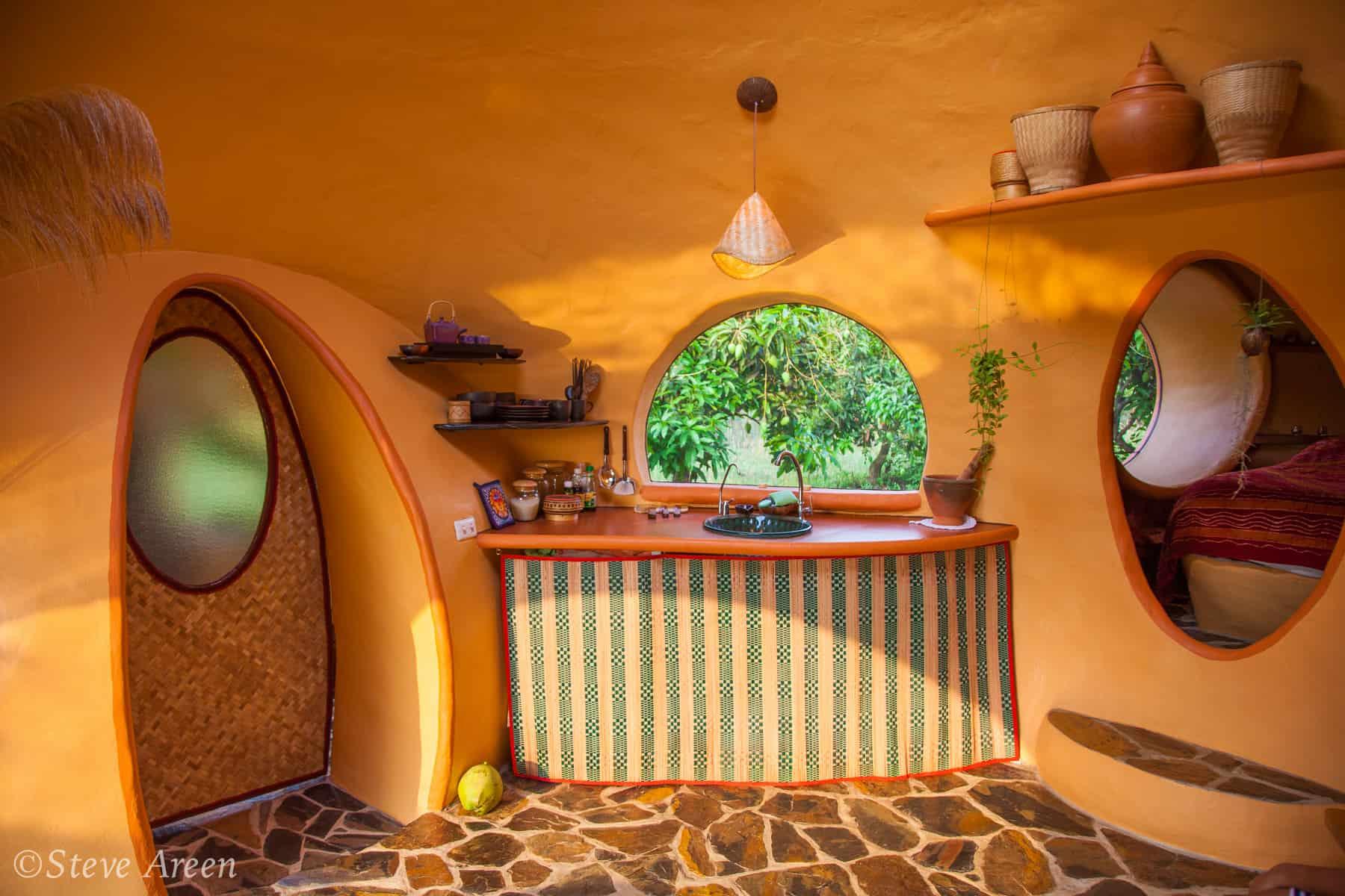 Aircrete dome kitchen
