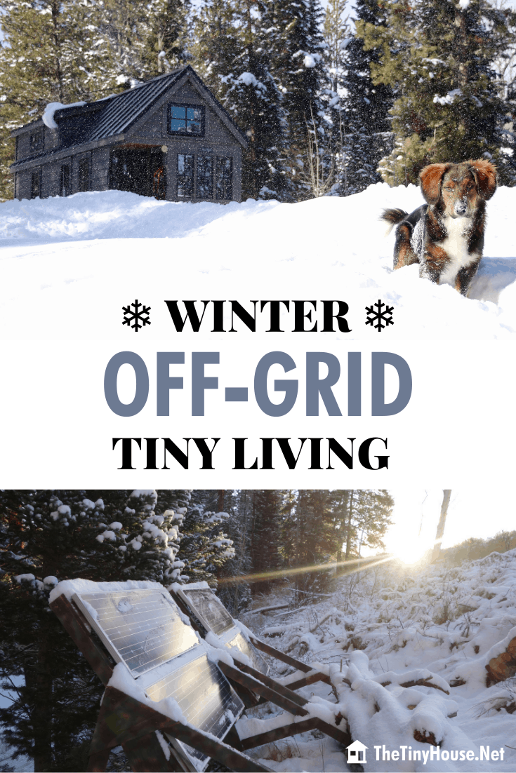 Winter Off-Grid Tiny Living can be difficult. Learn how Ariel McGlothin has been successfully surviving Wyoming winters in her off-grid tiny home for 6 years!