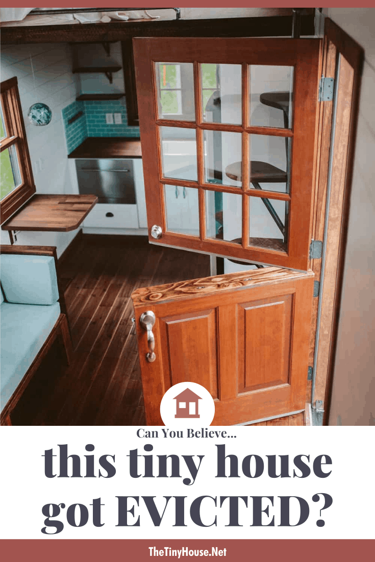 pinterest image for tiny house eviction